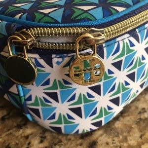 Tory Burch Bags - Tory Burch blue and green insulated lunch box